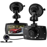 Wholesale rear view car parking sensor - G30B 2.7'' FHD Dual Lens Car DVR External Rear Camera Dash Camcorder Parking Video Recorder Registrator Night View G-Sensor