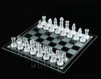 Wholesale free chess game resale online - 25 cm K9 Glass chess medium wrestling Packaging International Chess Game high quality International Chess Set packed well