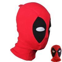 tam kaburga toptan satış-Yetişkinler Için yeni Erkekler Maskeleri Masquerade Topları Şapkaya Serin Cadılar Bayramı Cosplay Maskeleri Kostüm Ok Ölüm Kaburga Kumaşlar Tam Palyaço Maske DHL HH7-1206
