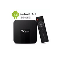 receptor de satélite dbb usb venda por atacado-Amlogic S905W TX3 Mini 2 GB 16 GB TV Box Quad-core Android 7.1 TV Streaming Caixas TX3-mini melhor do que MXQ Android TV Box