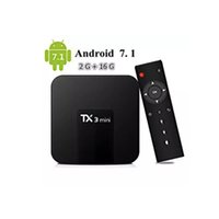 ingrosso casella dvd android-Amlogic S905W TX3 Mini Box TV da 16 GB da 2 GB Quad-core Android 7.1 Box di streaming TV TX3-mini meglio di MXQ Android TV Box