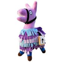 Wholesale wholesale plush horses - Fortnite Troll Stash Llama Plush 20cm Game Soft Alpaca Rainbow Horse Stash Stuffed Doll Action Figure Toys Novelty Items OOA5349