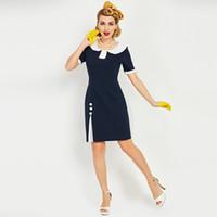 0f006b77c Blue Peter Pan Collar Dress Canada