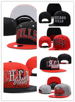Wholesale Bulls Balls - wholesale Newest CHICAGO Adjustable BULLS Snapback Hat Best Cheap Letters Adults Sports Baseball Caps Cotton Active Sun hats for Men Women