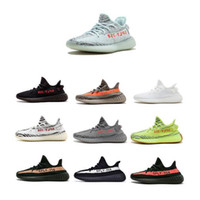 Wholesale b letters - 2018 Best 350 v2 Boost BLUE TINT Running Shoes Zebra Beluga 2.0 New Grey Bold Orange Black Letter Bred Triple White Semi Frozen Yellow