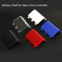 peças de reparo xbox one controller venda por atacado-Frete grátis bateria porta shell capa case cap substituição para xbox one controlador sem fio peças de reparo