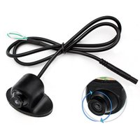 Wholesale ccd car front camera - MiNi 360 Degree Rotation HD CCD Parking Assistance Camera Front   Side   Rear View Camera For Car DVD Monitor Reversing Backup Camera