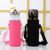 Wholesale Bottle Holder Bag - Protable Neoprene Cup Holder Water Bottle Case Cup Cover Bags Holder Carrier With String CCA9150 100pcs