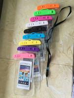 cell phone smart covers оптовых-Водонепроницаемый мешок воды доказательство сумка повязка чехол Чехол для универсальный доказательство воды случаях все сотовый телефон для смартфона до 5,8 дюйма