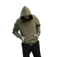 Wholesale men s high collar pullover for sale - Group buy High Quality Nice Hip Hop Kanye Hoodies with Fleece Autumn Tops Mens West Hoodie Sweatshirt Swag Solid Pullover