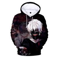 ingrosso sweatshirts pullover 3d-Felpa con cappuccio da uomo Pullover Tokyo Ghoul 3D Digital Print Felpa con cappuccio Amanti Maglione allentato casuale Abbigliamento moda Maschi Top Abbigliamento