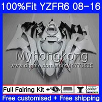Wholesale r6 fairing injection resale online - Injection For YAMAHA YZF600 YZFR6 YZF HM YZF R YZF R6 YZF R6 white glossy Fairings