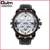 Wholesale watch world time online - Men s watches oulm new four world time leisure fashion table