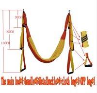 yoga swing toptan satış-Hava Uçan Yoga Hamak Hava Yoga Hamak Kemer Spor Salıncak Hamak 440Lb Yük Ile c614