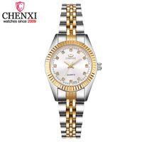ingrosso orologio d'oro femminile-CHENXI donne argento dorato classico orologio al quarzo donna elegante orologio regalo di lusso orologi da donna impermeabile orologio da polso Y18102310