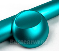 Wholesale mint brushes - Tiffany Mint Brushed Matt Chrome Vinyl For Car Wrap with Air bubble Free brush car wrapping styling foil coating :1.52*20M Roll 5x66ft