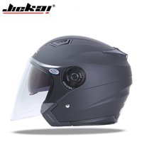 Wholesale red scooters - JIEKAI Motorcycle Helmets Electric Bicycle Helmet Open Face Dual Lens Visors Men Women Summer Scooter Motorbike Moto Bike Helmet