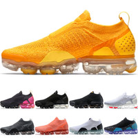 sport weich großhandel-Nike Air Vapormax Moc 2.0 Männer Frauen Laufschuhe Kern Triple Schwarz Weiß Weizen Grau Oreo Rot Billig Run Sport Sneaker Größe 5,5-11