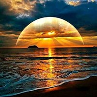 Wholesale sunset canvas paintings - Sunset Water Shadow 5D DIY Diamond Painting Kit for Adults,Full Square Drill Diamond Cross Stitch By Number Kits