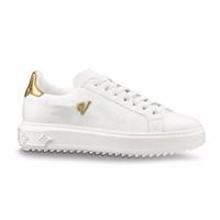 7b7dc9c670 Moda Marca de Luxo Sapatos Lace Up Designer Mulheres Homens Sapatilhas  Sapatos Casuais Tempo de Couro Para Fora Conforto Bonito Tênis Vestido de  Tênis