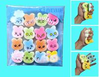 Wholesale squishy bunny - New 20 PCS Kawaii Squishy Rabbit Bunny Restore Slow Rising Toy Emoji Phone Bag Key Straps