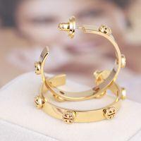Wholesale brand lovely jewelry resale online - Top Brand Gold Hoop Earrings with inverted TT design for women Silver Rose Gold Elegant earrings lovely girl Earrings fashion jewelry style