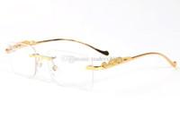 ingrosso caso di occhiali da sole di bambù-2019 famosi marchi di design corno bufalo occhiali da sole da uomo donna occhiali da sole con scatola caso di legno bambù oro telaio in legno lunette
