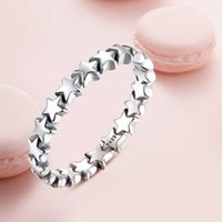 Wholesale Trail Wedding - New Star Trail Stackable Finger Ring For Women Wedding 100% 925 Sterling Silver Jewelry 2018 HOT SELL PA7151