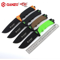 Wholesale ganzo fixed blade knives for sale - Firebird Ganzo G8012 HRC cr17mov blade ABS Handle Fixed blade knife Survival Hunting Knife tactical outdoor Camping tool