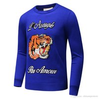 Wholesale Champagne Lanterns - 2018 Top Quality Italian Brand GC Men Sweaters Autumn Winter cotton knitwear Luxury Famous Long-sleeve Woolen embroidery sweater 3D Designer