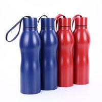Wholesale Blue Gourd - Metal Stainless Steel Water Bottles Gourd Shape Heat Preservation Kettle With Lift Rope Lid Sports Gift Cup Portable 35gp B