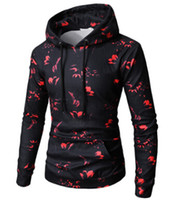 Wholesale male spot for sale - Group buy Men Casual Spots Printed Cotton Hoodies Male High Street Pullover Autumn Hooded Sweatshirts Mans Winter Tops