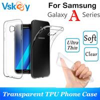 étui en silicone transparent galaxy achat en gros de-100pcs haute lumière TPU Silicone Case Pour Samsung Galaxy A3 A5 A7 2017 A8 Plus 2018 Ultra Mince Transparent Téléphone Couverture Arrière