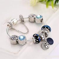 ornement de lune achat en gros de-Blue Star String Bracelet Modélisation des étoiles Perles The Moon Pendentif Ornement Accessoires pour femmes Bohemian Style Bracelet anti-rayonnement