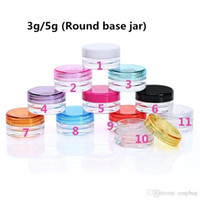 Wholesale frost container online - 5g g Plastic Wax Containers Jar Box Transparent Plastic Empty Cosmetic Cream Jar ml ml Capacity Wax Holder Container Food Grade Wax Tools
