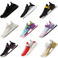 Wholesale athletic shoes size 47 resale online - Human Race Pharrell Williams X HU black passion INDIA women men Sports Running Shoes discount Cheap Athletic mens Shoes size eur