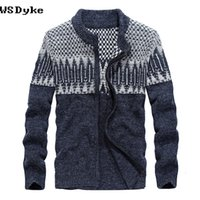 Wholesale thick cardigan sweaters for men - 2017 Autumn Winter New Long Sleeve Men Winter Sweaters And Pullovers Thick Zipper Cardigans For Men