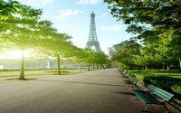 ingrosso sfondi torre eiffel-3D Wallpaper Murale Decor Photo Sfondo originale Parigi Torre Eiffel street view TV sfondo muro Wallpaper Pittura murale per soggiorno