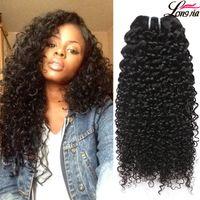"Wholesale Silky Human Hair Weave - Malaysian Human Hair 7A Kinky Curly Human Hair Extensions Wholesale Price Silky Malaysian Hair Weave Mix length 8""-28"" 100%Unprocessed"
