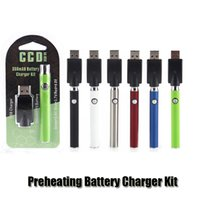 Wholesale G2 Charger - Preheating VV Battery Charger Kit 350mAh PreHeat O Pen Bud Touch Function Variable Voltage Vape Battery For CE3 G2 Cartridge