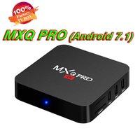 caixa de tv android 8gb venda venda por atacado-Venda de fábrica OEM ODM Inteligente Set Top Box MXQ Pro 4 K Android 7.1 TV Box RK3229 Quad Core 1 GB + 8 GB de Streaming Media Player