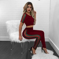 Wholesale Women Plus Size Sweats - Summer Tracksuit Women Loungewear Casual Two Piece Sets Short Sleeve Crop Tops and Pant Ladies Plus Size Sweat Suits Set