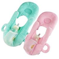 verhinderung von baby-flachkopfkissen groihandel-Emmababy Neugeborenes Baby Schlafkissen Pflege Verhindern Flachkopf Plüschtier Kissen Puppe Pad