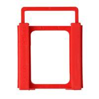 disco duro ssd 2.5 al por mayor-2.5 pulgadas a 3.5 pulgadas SSD HDD Notebook Unidad de disco duro Montaje Adaptador de plástico Soporte Soporte de acoplamiento para PC Enclosure