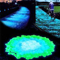 bahçe için hafif çakıl taşları toptan satış-Glow Taş Simülasyon Hafif Aydınlık Çakıl Taş Ev Balık Tankı Dekor Saksı Bahçe Koridor Süslemeleri Için