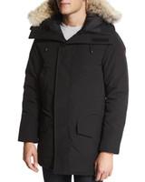 kukuletalı kışlık palto toptan satış-Ca Windproof Su geçirmez Manteau Parka Homme Kış Jassen Dış Giyim Büyük Kürk Kapşonlu fourrure Manteau Kaz Tüyü Ceket Coat Hiver'de Doudoune
