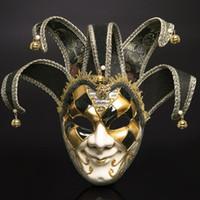 tam zencefil maskeleri toptan satış-Moda Venedik Masquerade Maskeleri Plastik Tam Başkanı Festivali Için Festivali Cadılar Bayramı Partisi Palyaço Dekorasyon Malzemeleri Sıcak Satış 45 wp BB