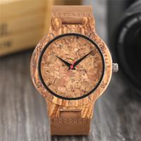 fanáticos del vino al por mayor-Reloj de madera natural Cerveza artesanal Cork Dial Unisex Novela Deco Reloj de pulsera de cuarzo Reloj fresco Regalo para fanáticos del vino relogio masculino