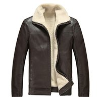 Wholesale mens winter motorcycle jacket for sale - Group buy Brand Autumn Winter High Quality PU Faux Leather Jacket Men Casual Thick Warm Velvet Mens Jackets Coat Motorcycle Coat