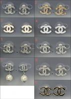 Wholesale alphabet designer - New Luxury Brand Designer Stud Earrings Letters Ear Stud Earring Jewelry Accessories for Women Wedding Gift Free Shipping0438